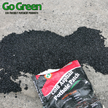 Go Green cold mix asphalt for road pothole cold patch instant pothole repair life time maintenance