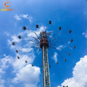 Outdoor Adventure Earn Money Theme Park Equipment Rotary Free Fall Flying Tower Amusement Ride
