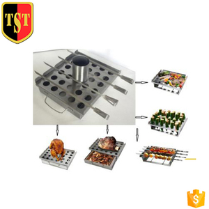 TST BBQ Multifunctional basket with Reusable Skewers
