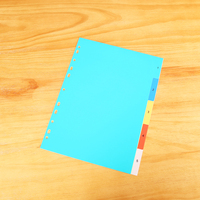 Office supplies custom a4 color plastic binder 11 hole file folder sheet protector tabs dividers