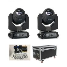 230W 7R คู่ Prism Beam Moving Head 2pcs ย้าย<span class=keywords><strong>หัว</strong></span> Flightcase STAGE LIGHT