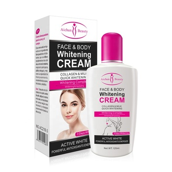 Factory price AICHUN 3 days natural care beauty whitening body cream