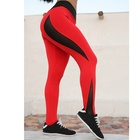 Red Stitching Mesh Hollow Out Tight Woman Jogging Pants Yoga,Sexy Top Selling Relaxed Yoga Leggings