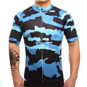FUALRNY 2019 Cycling Jersey Tops Summer Racing Cycling Clothing Blue Ropa Ciclismo Short Sleeve mtb Bike Jersey Shirt wholesale