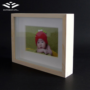 Wholesale acrylic sheet baby photos tabletop 3d shadow box picture frames