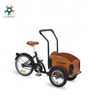 "ae07408b39f new design 16"" Steel Frame retro kids wooden cargo bike trikes for  baby outdoor"