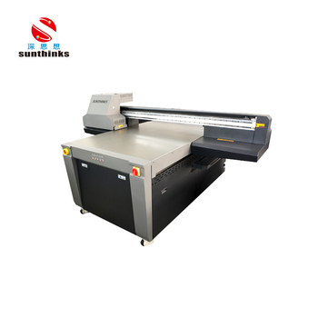 CE certificated Sunthinks flatbed uv inkjet printer with big format 110*150cm for glass wood arcylic case