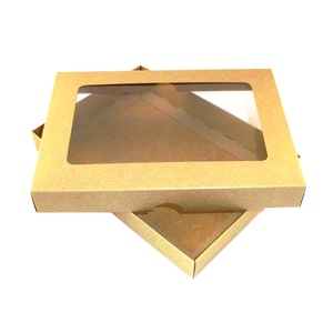 ZL Custom a6 brown kraft greeting card boxes with aperture lid
