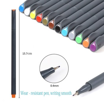 Great price 36 colors dual tip brush fineliner color pen for drawing Assorted color paint non toxic safe fineliner marker pen