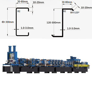 2019 China hot sell with Low Pricec z interchangeable purlin roll forming machine for construction