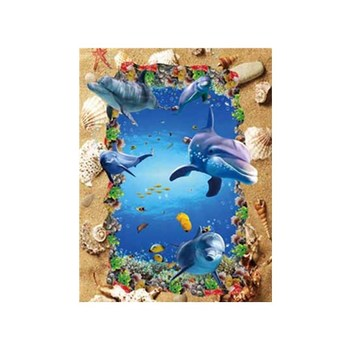 ThreeD 3d Fish and sea turtle kissing animal 3d effect pictures