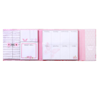Custom flower Weekly organizer sticky notes set