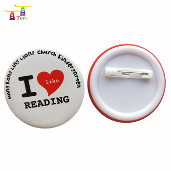 Button Heart Shaped Tin Personalized Promotion Gift & Lapel Pin No Minimum Order Badge Holder Magnet Sublimation Printing Badges