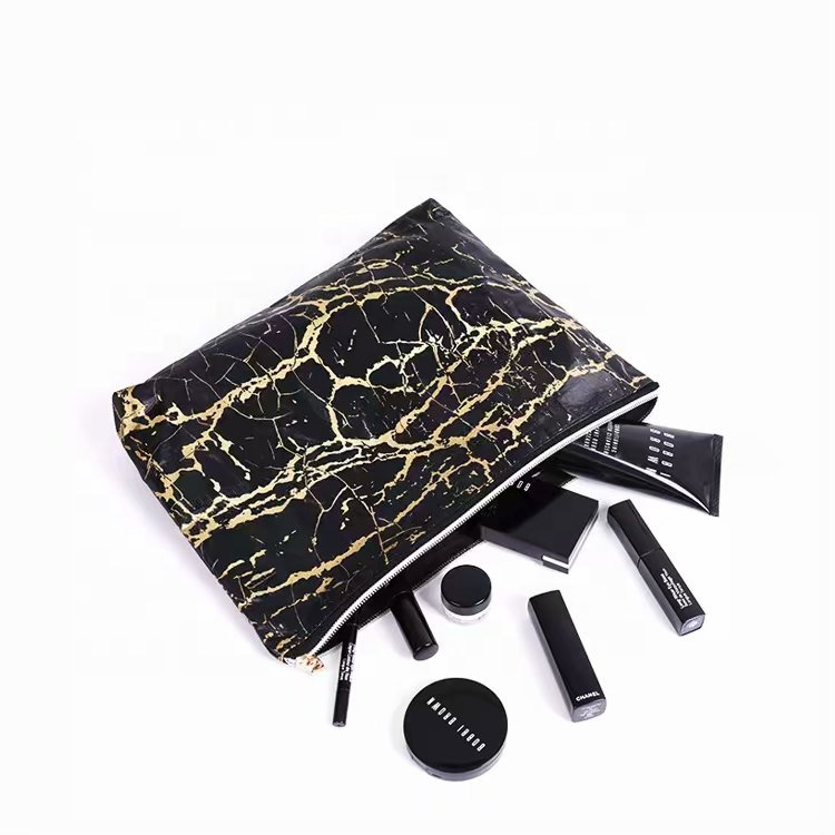 Tyvek Paper Zipper makeup Bag printed logo and design customizable make up bag <strong>cosmetic</strong>