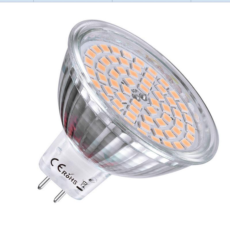 AC/DC12V مادة الزجاج mr11 mr16 بقعة ضوء 5w مصابيح led 3000k/6000k ra>80.