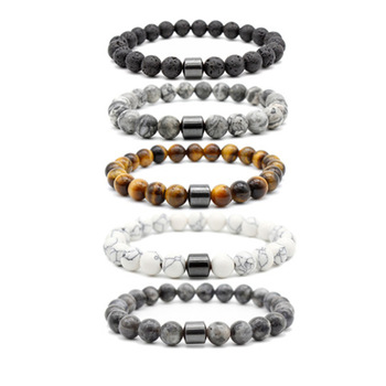 Magnetic Therapy Handmade 8mm Hematite Bead Bracelet Energy Beads Stretch Bracelets