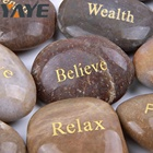 Wholesale Customized Engraved Mixed Color Natural River Stone Crafts for Gift