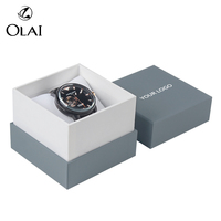 Custom Logo Simple 1 Piece Rigid Cardboard Paper Custom Logo Single White Watch Box