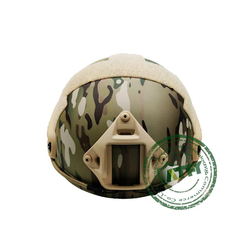 Military safety camouflage aramid bullet fast kevlar ballistic helmet