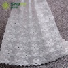 Embroidery Flower 3D Sheer Curtain White Lace Fabric