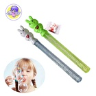 candy toy cartoon rabbit lid tube water soap bubble toy for kids