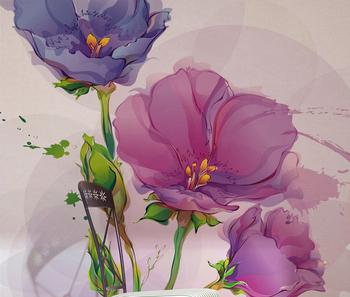 Desain Bunga Cantik Adalah Dekor Wallpaper Lukisan Bunga Desain