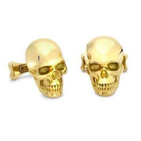 Wholesale Make Custom Skull Head Cufflinks For Men