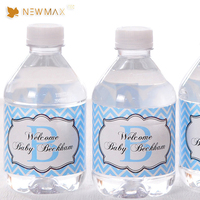 Custom Sticker Clear Juice Beverage Label Stickers Water Mineral Plastic Bottle Labels