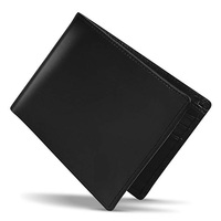 New Cork Hot Sell Trendy Luxury Custom Logo Genuine Cow Leather mens black wallet for men