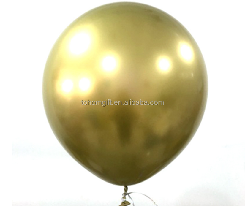 Inflatable 12 inch Pearl metal latex rubber Chrome Balloons for Party Wedding Decoration