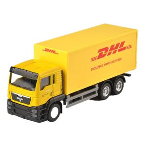 OEM customized DHL truck 1-50 Die Cast Truck Model Metal Die Cast Truck Toy