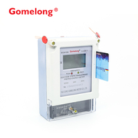 GOMELONG Lowest Price 158.5x112.5x57.5 Dimensions and DDSY5558 Prepaid electricity IC card meter manufacturing