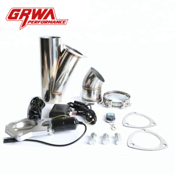 GRWA High Quality Popular Welded SS304 Pipe Exhaust Muffler Vacuum Exhaust Valve Cutout