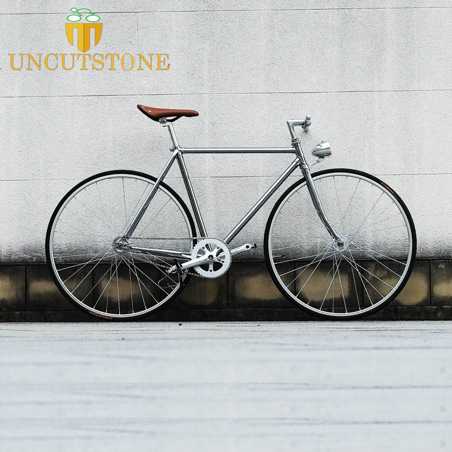 retro fixie bike 20mm rim TRACK BIKE 56cm 52cm single speed fixed gear bike vintage steel Customize frame OEM Bicycle