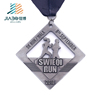 Customized hollow out gun black electroplating gold metal medal for house sports