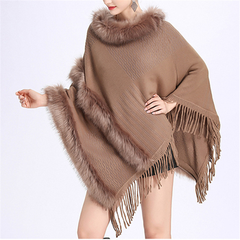 2019 New Arrival Fashion Fur Cape Wholesale Women Elegant Eco-Friendly Customize Faux Fur Shawl
