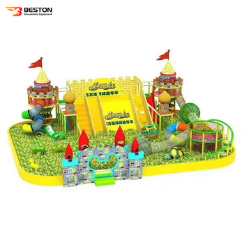 Children indoor playground kids soft padded play ground equipment with big ball pool