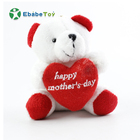 7cm Teddy Bear Stuffed Plush Toy Holding LOVE Heart Soft Gift for Valentine Day custom made soft toy maker