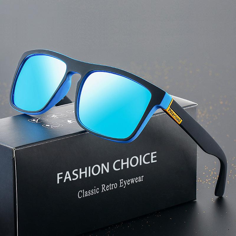 BRAND DESIGN Classic Polarized Sunglasses Men Women Driving Square Frame Sun Glasses Male Goggle UV400