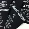 Garment Labels and Tags Polyester Fabric Woven care Labels For Clothing