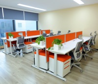 Smart electric stand up 2 people work station MFC desk from 300000 sqm factory