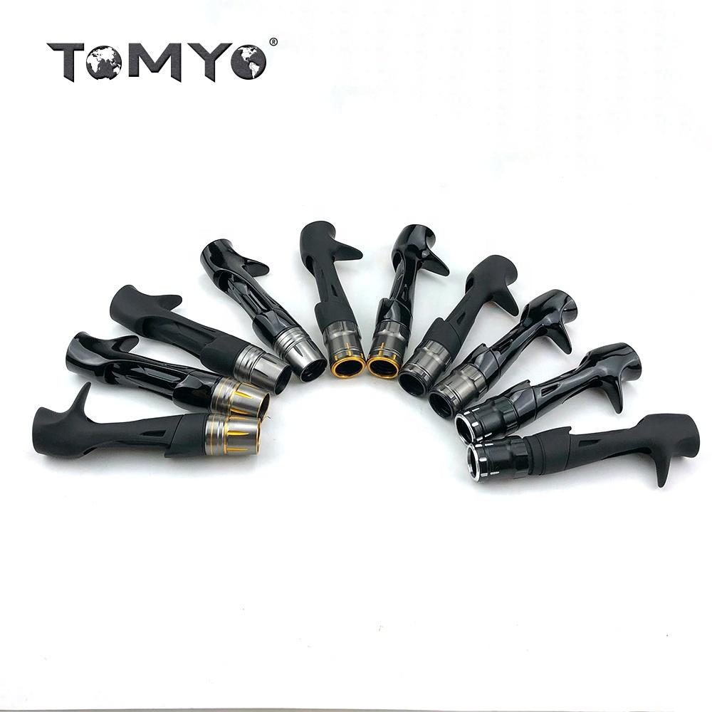 Tomyo New Design Shimano Reel seat +Winding Check Set Diy Fishing Rod, Black/matt