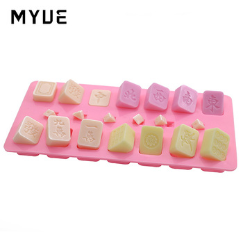 Supply silicone cake mould chocolate ice pattern die die mahjong die mould biscuits