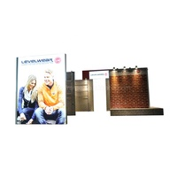 best price selling corrugated display stand Portable M series booth for trade show or advertising