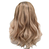 High quality heat resistant synthetic blend lace front wigs