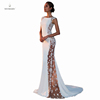 2019 hot women evening dress lace sleeveless wedding mesh floor length cocktail dresses