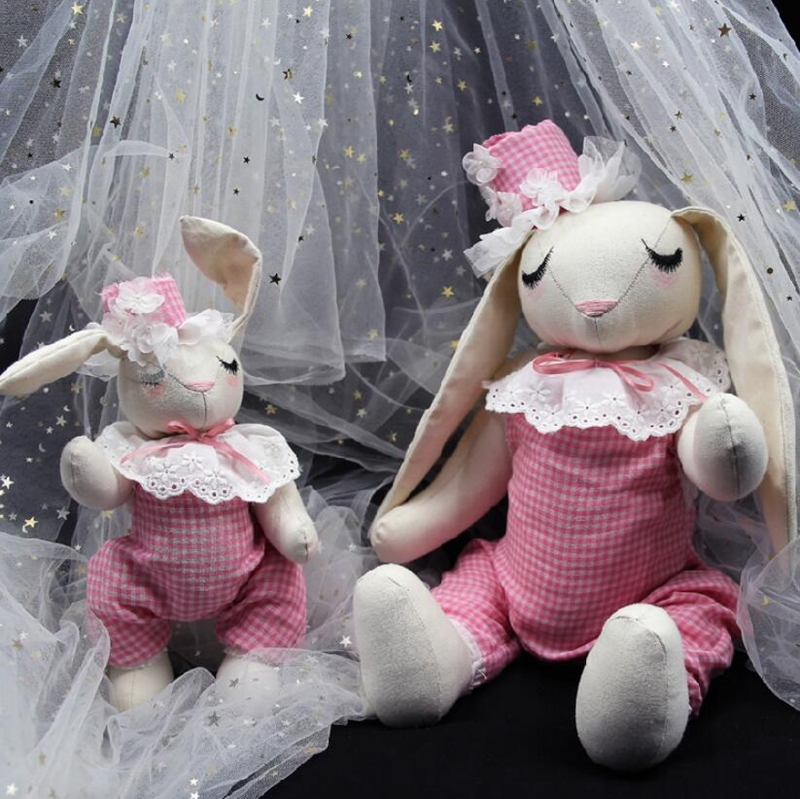 Dreamtop DTF287-FS sweet pink handmade plush kids toy Guangzhou stuffed toy <strong>rabbit</strong> wholesale for gifts