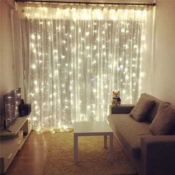 distinguished festival Outdoor Waterproof ins style twinkle hanging light for bedroom