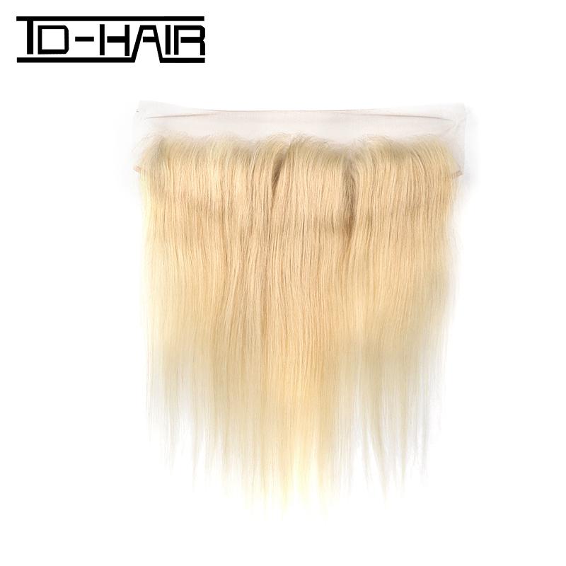 TD HAIR 613# Blonde Ear To Ear Lace Frontal Wholesale Cuticle Aligned Raw Virgin Body Wave 613 Blonde Human Hair Weave Bundles фото