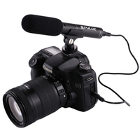 PULUZ Professional Interview Condenser Video Shotgun Microphone with 3.5mm Audio Cable for DSLR & DV Camcorder